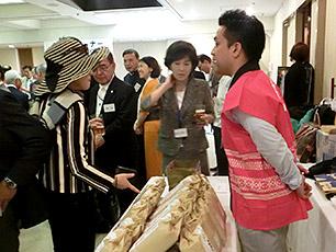 九州賢人会議所推奨米「庄の夢」販売コーナーの様子